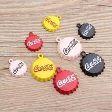 (XL003#) 10Pcs Enamel Alloy Coca-Cola Cap Pendant DIY Bracelet Pendant Ornament
