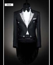 New Men's Sliver Collar Black and White Wedding Dress Tuxedo (Include Pants)