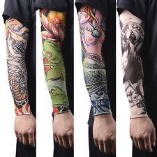1~16pcs Nylon Fake Temporary Tattoo Sleeves Tatoo Arm Stockings For Men Women SK