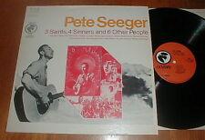 """PETE SEEGER Orig 1968 """"3 Saints, 4 Sinners & 6 Other People"""" LP UNPLAYED"""