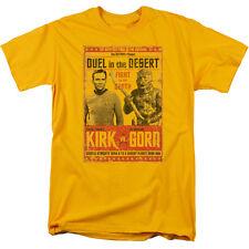 Star Trek Original Series Kirk vs Gorn Duel in the Desert Poster T-Shirt S-3XL