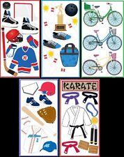U CHOOSE Sandylion Essentials Stickers BASEBALL KARATE HOCKEY BOWLING BICYCLES