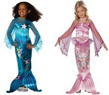 Kinder Kostüm Meerjungfrau Mädchen Fasching Karneval Gr. 110 116 122 128 134 140