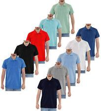 Mens T Shirts Cotton Pocket Plain Polo Shirt Pique T-shirt Top Multi-Color S-2XL