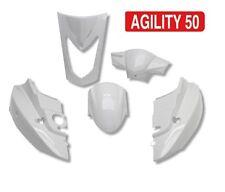 Kit carénage carrosserie 5 coques Selle bi-place Kymco Agility 50 - 125 cc Blanc