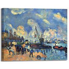 Cezanne senna a bercy design quadro stampa tela dipinto telaio arredo casa