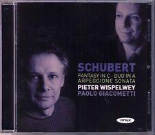 Pieter WISPELWEY: SCHUBERT Arpeggione Sonata Cello Fantasy CD Paolo Giacometti