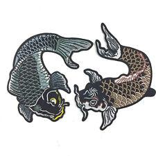 XL Aufnäher KOI PATCH Aufbügler Abzeichen Bügelbild Aufnäherbild Japan Fisch