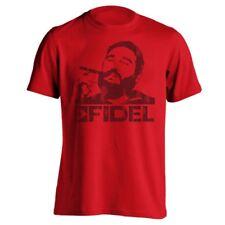 Fidel Castro Cigar  Cuba  Revolution Red Men's T-Shirt