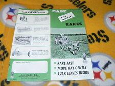 Case Tractor Hay Rake Dealer's Brochure