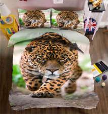 Quiet Leopard 3D Printing Duvet Quilt Doona Covers Pillow Case Bedding Sets