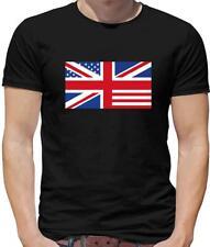 USA Union Jack Flag Mens T-Shirt - United States of America - United Kingdom