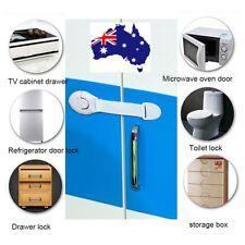Baby Children Safe Cabinet Drawer Cupboard Door Safety Lock Adhesive Easy Latch