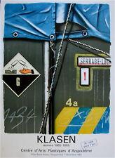 Peter Klasen Affiche Originale Quadri figuration Narrative Art Abstrait Angoulêm
