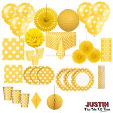 Couleur jaune taches Jetables Vaisselle & Décorations de fête d'anniversaire