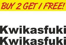 2x Kawasaki Kwikasfuki Ninja Vinyl Graphic Bike Sticker