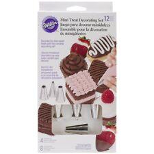 Wilton 2104-1366 12-Piece Metal/Plastic Mini Treats Decorating Set For Cupcakes