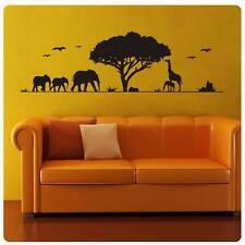 Wandtattoo Afrika Giraffe Elefant Wandaufkleber Shilouette Retro Style W836