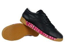 Reebok Classic Freestyle faible vieux se réunit pour Femme en Cuir Baskets Chaussures Noires