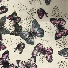 100% algodón artesanía Coser Mariposa Diseño metro de tela