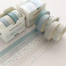 5Pcs/Set Grid Washi Tape Cute Stationery DIY Scrapbooking Stickers Masking