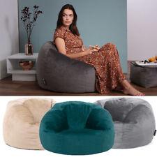 Icon Velvet Classic Bean Bag Chair - Luxury Large Adult Beanbag Seat