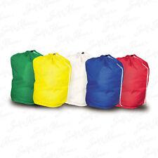 Strong Polyester Drawstring Bag Travel Wash Home Storage Laundry Sack Washable