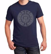 NW MEN'S PRINTED Aztec Indian Pattern Vintage GRAPHIC DESIGN COTTON T-SHIRT Tee