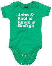 John & Paul & Ringo & George, The Beatles inspired Kid's Printed Baby Grow