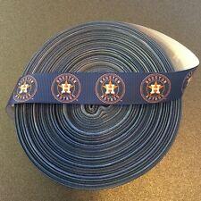 "7/8"" Houston Astros Blue Grosgrain Ribbon by the Yard (USA SELLER!)"