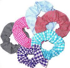 Tessuto a Quadretti Elastico per Capelli Cravatte Scrunchies By Sherry Rosso