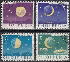 Albania/shqiperise 839-842 the four Moon Phases