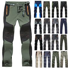 Men Climbing Hiking Waterproof Pants Outdoor Tactical Work Cargo Combat Trousers
