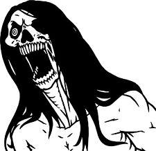 Skull Crazy Zombie Monster Creature Beast Car Truck Window Vinyl Decal Sticker