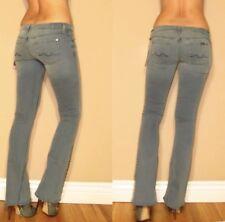 Seven 7 For All Mankind Stud Crystal Hem Flare Jeans Underground 23 24 25