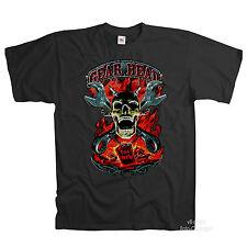 4186 * skull gothique tete de mort Motif HipHop Fête gangster t-shirt