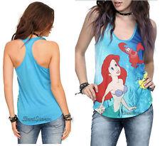 Disney The Little Mermaid ARIEL Sea Sebastian Racerback Tank Top Tee Shirt JRS.