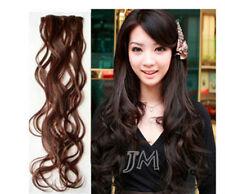 Clips in Extension 5 Haarteilen ca 70cm lang gewellt Haarverlängerung Neu