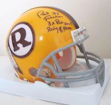 Pat Fischer signed Redskins mini helmet - 3x Pro Bowl & Ring of Fame Inscription