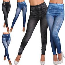 L102 Leggins Hose Jeans-Destroyed-Look Leggings Jeggings Optik Sommer