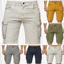 Herren Bermuda Cargo Shorts Stretch Jeans Look Kurze Capri Hose Sommer Vintage