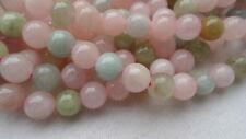 Strang Edelstein Beryll Morganit Aquamarin Auswahl von 6 bis 10mm Perlen #g437