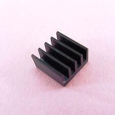 2x-10x Cooling Aluminium Heat Sink 9x9mmx5mm 3D Motor Driver Cooler Black Finish