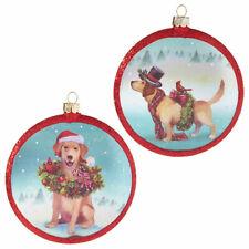 Whimsical Dog Disc Ornament