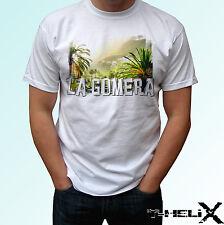 La Gomera - white t shirt top Spain flag country design - mens womens kids baby