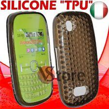 Cover Custodia Gel Silicone TPU Nero Per Nokia Asha 200/201