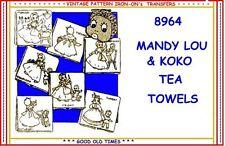 Mandy & Koko Black Mammy & Son embroidery transfer pattern IRON-ON 8964