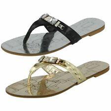 ee6de86021f Ladies Nature Breeze Flat Jewelled Toepost Sandals