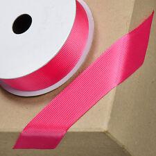 Fuchsia Pink Grosgrain Ribbon 10mm 16mm  25mm x 10m - Craft - Sewing