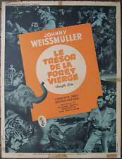 Affiche originale Film JUNGLE JIM Johnny WEISSMULLER vers 1955